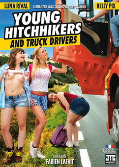 Young hitchhikers and truck drivers