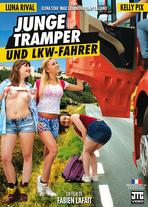 Junge Tramper und Lkw-Fahrer