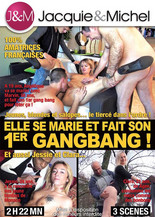 She gets married and does her 1st Gang Bang