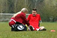 La masseuse de l'équipe de foot