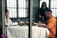 Valentina Nappi, Cassie del Isla and Emilio Aradana in the The Prisoner, Marc Dorcel's new production in VOD on Dorcel Vision