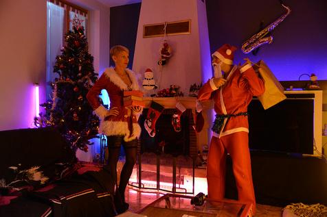 Miss Santa's big tits