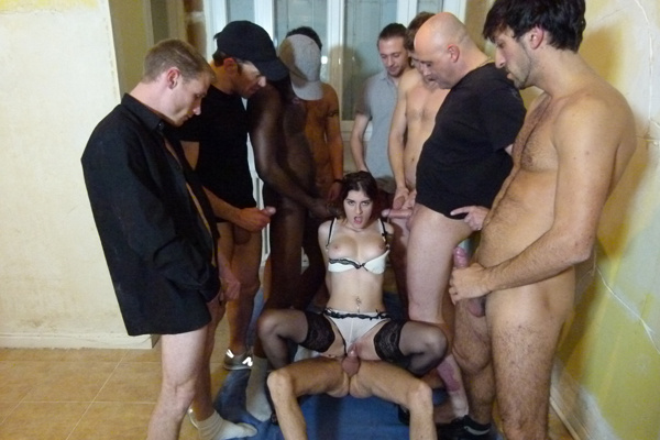 Gangbang free porn video, trish naked shower