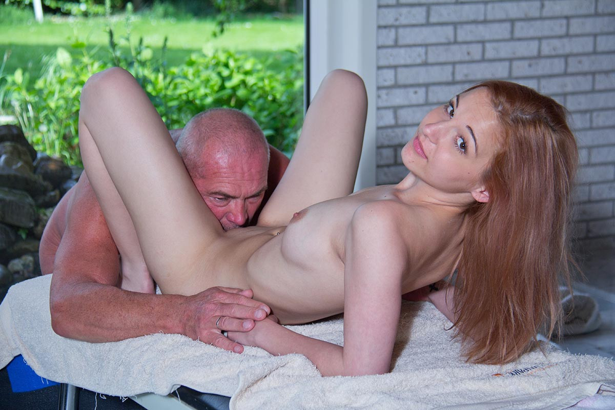 Horny old man takes girl to his home to fuck