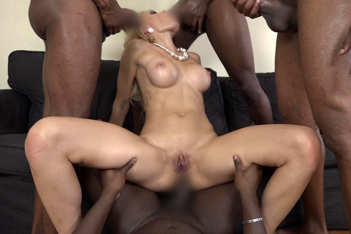 Big White Tits & Large Black Dicks #5 DVD R0.