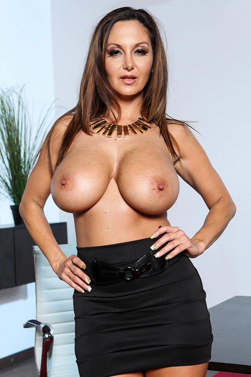 Fantasyhd huge breasted ava addams takes a load on her tits 6